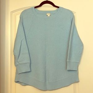 J Crew Sweater with 3/4 sleeves
